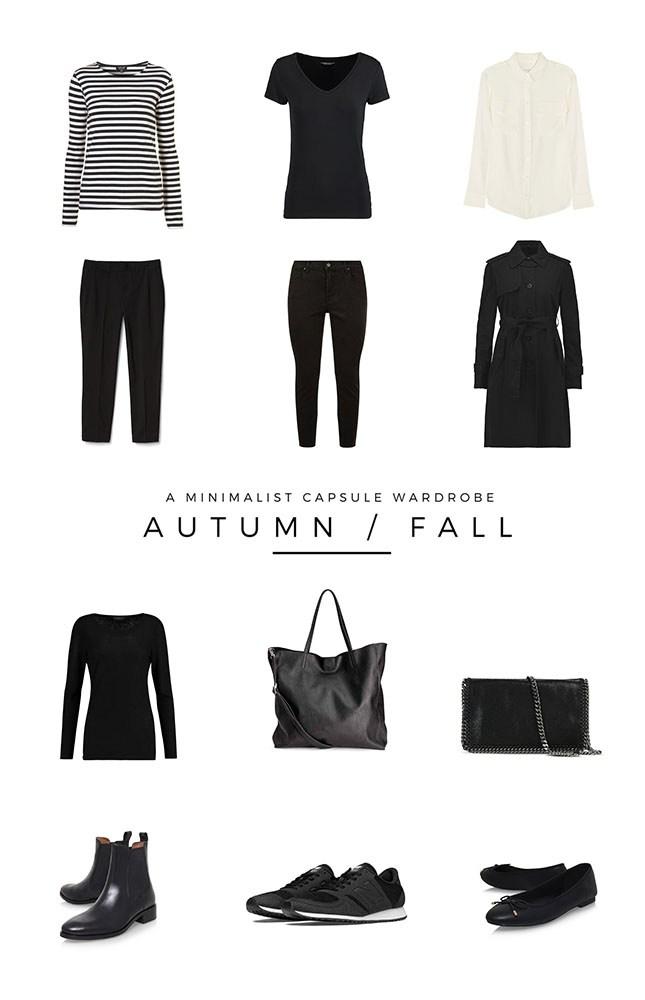 autumn minimalist capsule wardrobe