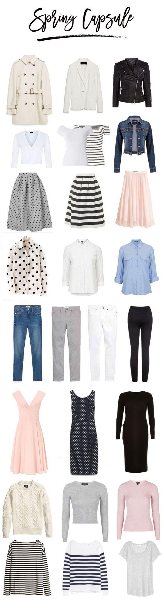 minimalist capsule wardrobe spring